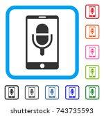 phone microphone icon. flat...