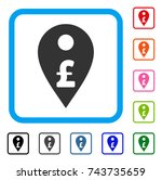 pound map marker icon. flat...