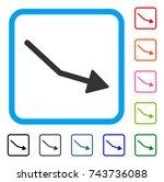 negative trend arrow icon. flat ...   Shutterstock .eps vector #743736088