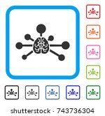 mind control links icon. flat... | Shutterstock .eps vector #743736304