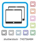 mobile tabs icon. flat gray...