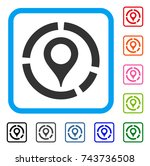 map marker diagram icon. flat...