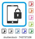 lock smartphone icon. flat grey ...
