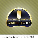 gold emblem or badge with soda ... | Shutterstock .eps vector #743737684