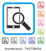 find smartphone icon. flat gray ...