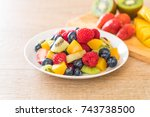 mixed fresh fruits  strawberry  ... | Shutterstock . vector #743738500