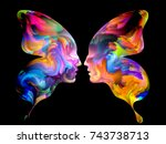 colors of us series.... | Shutterstock . vector #743738713