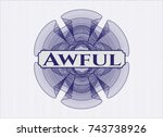 blue linear rosette with text... | Shutterstock .eps vector #743738926