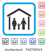 family cabin icon. flat gray... | Shutterstock .eps vector #743739019
