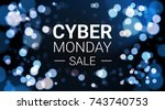 cyber monday sale flyer design... | Shutterstock .eps vector #743740753