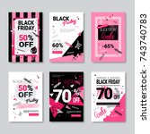 black friday sale banner set... | Shutterstock .eps vector #743740783