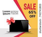 cyber monday sale template... | Shutterstock .eps vector #743741803