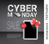 cyber monday sale template... | Shutterstock .eps vector #743741854