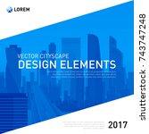 design element for corporate... | Shutterstock .eps vector #743747248