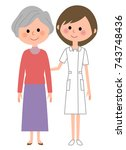 nurse patient | Shutterstock .eps vector #743748436