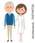 nurse patient | Shutterstock .eps vector #743749720