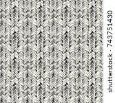 abstract irregular herringbone... | Shutterstock .eps vector #743751430