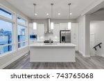 interior design of a modern... | Shutterstock . vector #743765068