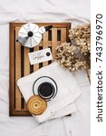 good morning coffee with love... | Shutterstock . vector #743796970