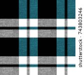 seamless tartan plaid pattern... | Shutterstock . vector #743803246