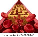 cholesterol disease challenge...   Shutterstock . vector #743808148