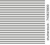 horizontal parallel straight... | Shutterstock .eps vector #743825800