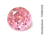 Pink Diamond Stone Isolated On...