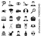 anxiety icons set. simple set...   Shutterstock . vector #743832340