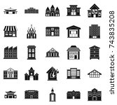 land development icons set.... | Shutterstock . vector #743835208