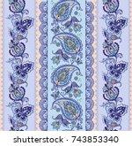 luxury oriental striped...   Shutterstock .eps vector #743853340