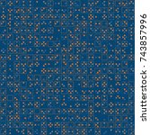 beautiful geometric pattern... | Shutterstock .eps vector #743857996