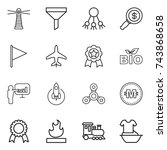 thin line icon set   lighthouse ... | Shutterstock .eps vector #743868658
