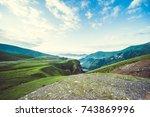 beautiful landscape of the Caucasus mountains
