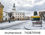 town hall in main square ... | Shutterstock . vector #743870548