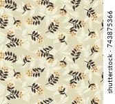 vector seamless pattern flowers ... | Shutterstock .eps vector #743875366