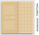 card  invitation  cover... | Shutterstock .eps vector #743877244