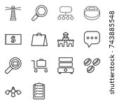 thin line icon set   lighthouse ...
