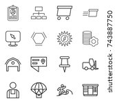thin line icon set   report ...   Shutterstock .eps vector #743887750