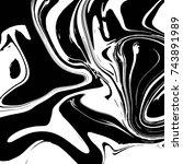 liquid marble texture design ... | Shutterstock .eps vector #743891989