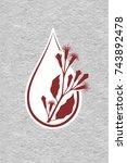 a drop of clove essential oil ...   Shutterstock .eps vector #743892478