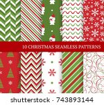ten christmas different... | Shutterstock .eps vector #743893144
