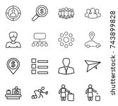 thin line icon set   target... | Shutterstock .eps vector #743899828