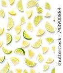 pattern of citrus fruits. lemon ...