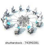 three dimensional  programmer ... | Shutterstock . vector #74390281