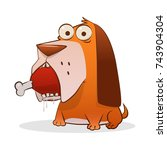 illustration of a dog with a... | Shutterstock .eps vector #743904304