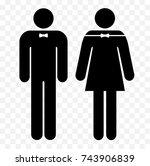 restroom symbols  | Shutterstock .eps vector #743906839