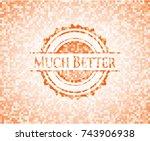 much better abstract emblem ... | Shutterstock .eps vector #743906938
