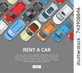 rent a car template. best... | Shutterstock .eps vector #743908846