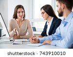business people working with... | Shutterstock . vector #743910010