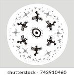an image of birds on a shaman's ... | Shutterstock .eps vector #743910460